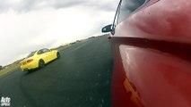 Audi RS5 vs BMW M4 & BMW E92 M3 drag race