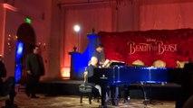 Gaston live Josh Gad, Luke Evans, Alan Menken at Beauty and the Beast press conference