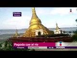 Pagoda se hunde en el río   Noticias con Yuriria Sierra