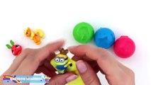 Et des balles les couleurs Apprendre arc en ciel vase jouets avec Surprise arc-en-ciel