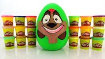 The Lion Guard Pumbaa Giant Play Doh Surprise Egg with The Lion King Tsum Tsum Kids Toys