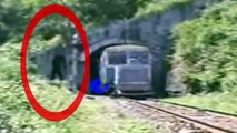 ☠Ghost caught in haunted train tunnel ! Scariest ghost caught☠