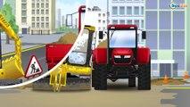 Трактор едет - Аграрная машинерия Грузовичок Трактора для Детей - Мультфильмы для детей