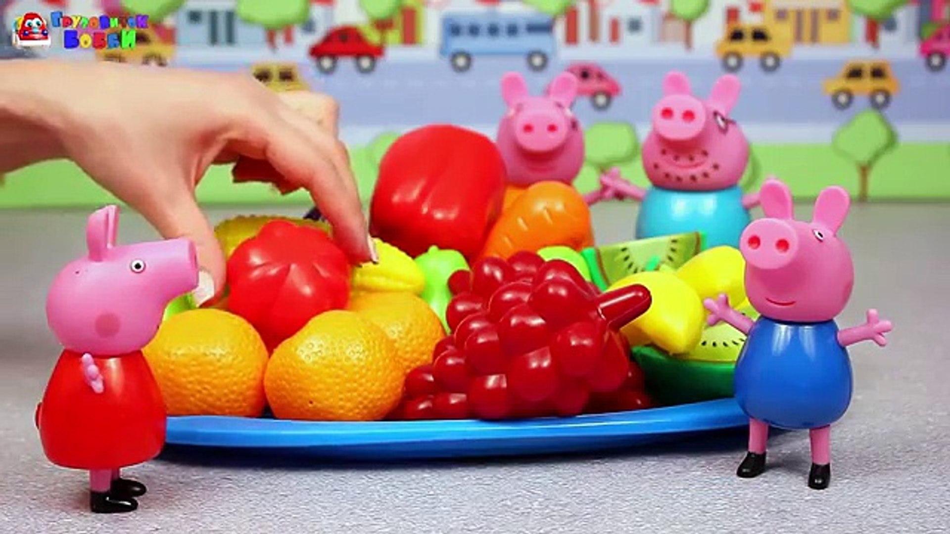 ДЛЯ ФУРШЕТА m свинка пеппа и джордж изучают цифры и овощи развивающий мультфильм детей волшебная
