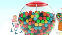Bébé Bonbons enfants les couleurs couleurs pour enfants Apprendre les tout-petits avec 3d bouton machine Gumball