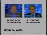 """Canal + - 7 Avril 1996 - Séquence """"Télés Dimanche"""" (le retour de PPDA)"""