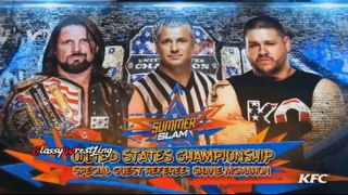 AJ Styles vs Kevin Owens for the united States champion - Summerslam 2017