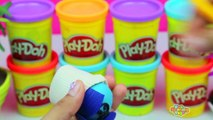 GIANT EGG SURPRISE INSIDE OUT Joy, Disgust, Fear, Anger, Sadness, Bing Bong Play Doh Tsum