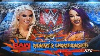 Alexa Bliss vs Sasha Banks - WWE SummerSlam 2017