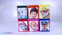 Paw Patrol DIY Cubeez Surprise Eggs Learn Colors Play-Doh Dippin Dots Candy Jelly Beans Sk