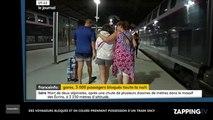 Des voyageurs bloqués et excédés prennent possession d'un train SNCF (vidéo)