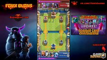 Choc Dans le sur 4 nouvelles cartes, une nouvelle jungle Arena 2600 Royale