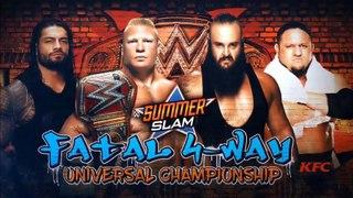 Brock Lesnar vs Roman Reigns vs Samoa Joe vs Braun Strowman - WWE SummerSlam 2017