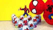Pâques des œufs de héros chaud merveille Araign? e homme araignée super-héros jouets déballage 12 surprise