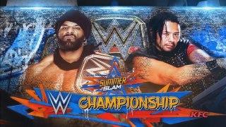 Jinder Mahal Vs Shinsuke Nakamura WWE World Heavyweight Championship - WWE Summerslam 20 August 2017