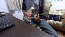 Stevie Ray Vaughan Couldnt Stand The Weather guitar solo cover (SONY HDR MV1ライン録音)