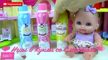 Jeunes filles pour clin doeil avec Poupée pupsiki bain de bain moussant de couleur joue poupées paroles