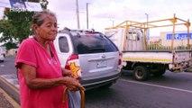 Mujeres abandonadas por sus familias piden limosna en la calle