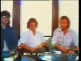 Deep Purples Ian Gillan, Ian Paice and Roger Glover being interviewed in 1987