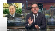John Oliver Weighs In On Steve Bannon's White House Departure | THR News