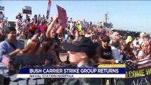 Loved Ones Rejoice as George H.W. Bush Carrier Strike Group Returns Home After Deployment