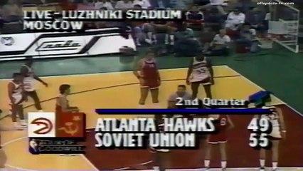 Sarunas Marciulionis ● URSS 132:123 Atlanta Hawks 1988