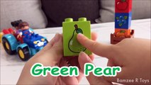 Colores huevos huevos huevos frutas frutas frutas Aprender sorpresa juguetes Lego Bamzee