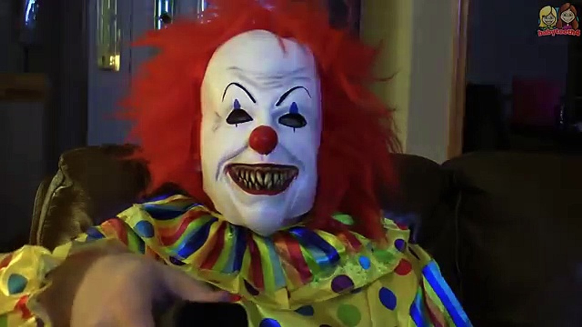 Creepy Clown Mailed Itself in a Box to Our House! Kids scared by Killer Clown! Babyteeth4