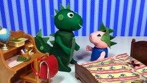 Et banane rots dinosaure pétant Nouveau porc pâte à modeler la télé avec George-Peppa stop-motion