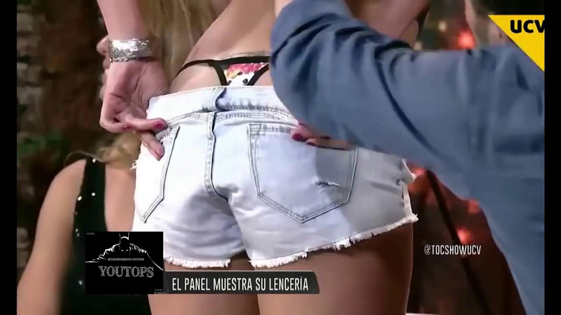 Mujeres Enseñando La Tanga conductoras se levantan la falda y enseÑan los calzones en television