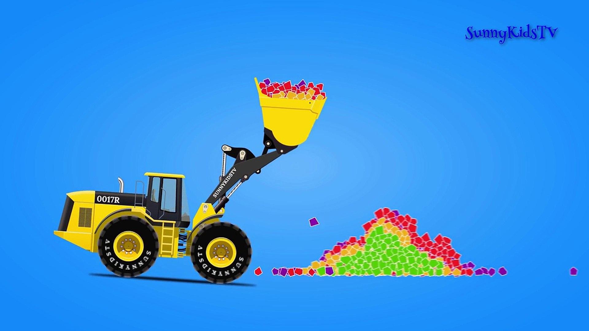 Легковые автомобили сюрприз Яйца Узнайте овощи колесо погрузчик мультфильмы для Дети