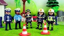 ⭕ PLAYMOBIL Polizei - Wettkampf Polizei gegen Feuerwehr - Pandido TV