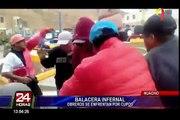 [VIDEO] Huacho: se registró una  balacera entre obreros de una construcción