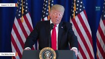 Trump Omits 'On Many Sides' Remark While Defending His Charlottesville Response In Phoenix
