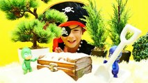 Korsan oyunları  Pijamaskeliler hazinesi ÇALINDI! Romeo intikamı. Slime videoları. Eğitici oyun-oopqXLdQ_lQ