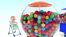 Bébé Bonbons enfants les couleurs couleurs pour enfants Apprendre les tout-petits avec 3d Gumball