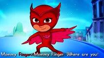 La famille doigt masques Dans le sur russe langue héros masqués pyjama de super-héros famille masques pj est tombé