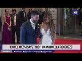 """Lionel Messi says """"I do"""" to Antonella Roccuzzo"""