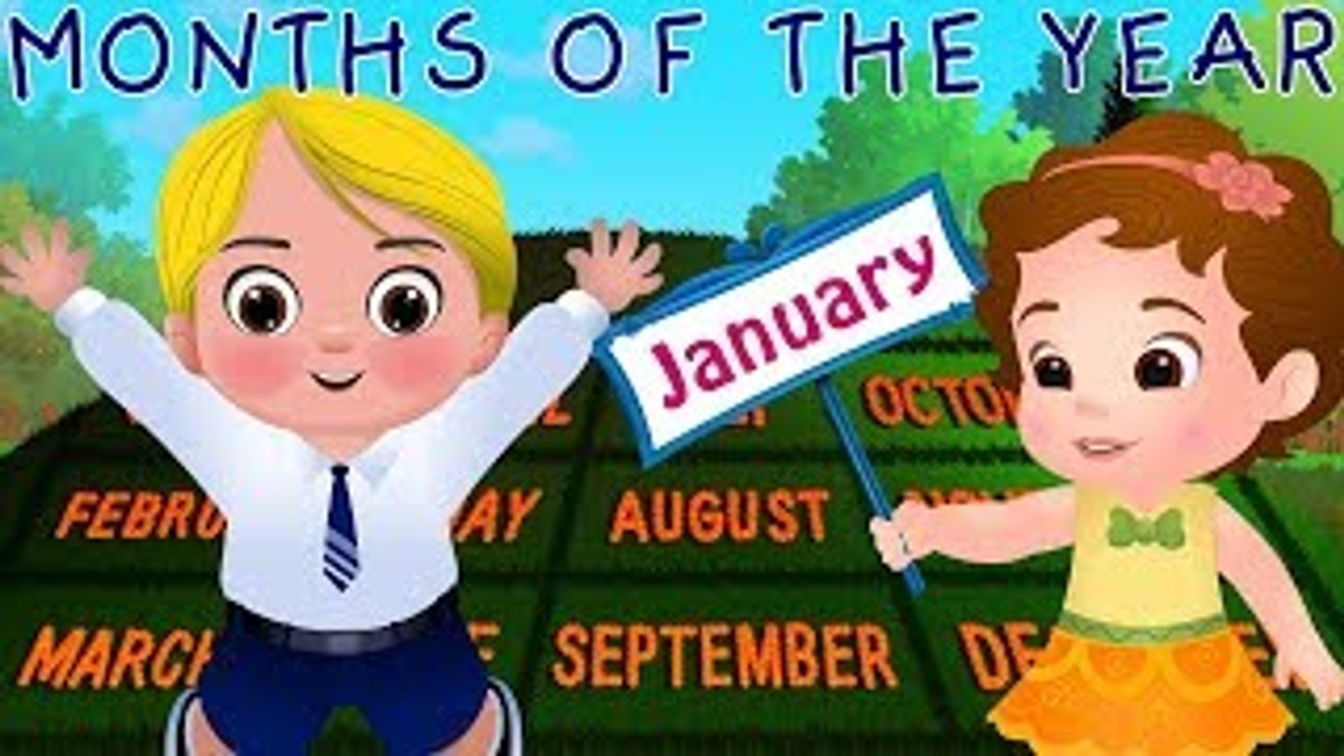 Months of the Year Song - January, February, March - Original Nursery Rhymes for Kids by Fun Tv