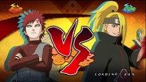 Anglais orage ultime contre Naruto ninja 2 gaara deidara s-rank hd