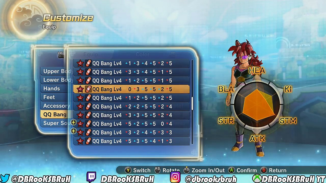 Qq Bangs For Gods Dragon Ball Xenoverse 2 Cac Qq Bang Recipes For Strike Ki Blast Buil