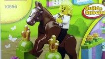 Et briques soins Château sapins fille cheval sauts plus mon rose Princesse cavalier testing Lego playset