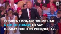 Trump defends Charlottesville comments in Arizona rally