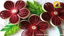 Arte y arte cómo para hacer hermosa Nuevo diseño encañonado rojo Flor papel arte encañonado