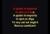 A Quién Le Importa - Thalia (Karaoke)