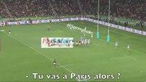 Romain Poite demande en plein match à un joueur s'il a signé au Stade Français