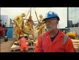 Birmingham golden statue removed for tram line extension
