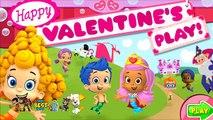 Niños para y guppies burbujas juego de dibujos animados de San Valentín en ruso