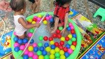 Balle fosse Cour de récréation piscine arc en ciel jouets pour le bain de piscine à balles Bestway arc-en-k