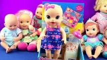 Bébé vivant bébés poupées broussailleux bébé poupée jouet brossage les dents pipi couche jouet examen vidéos